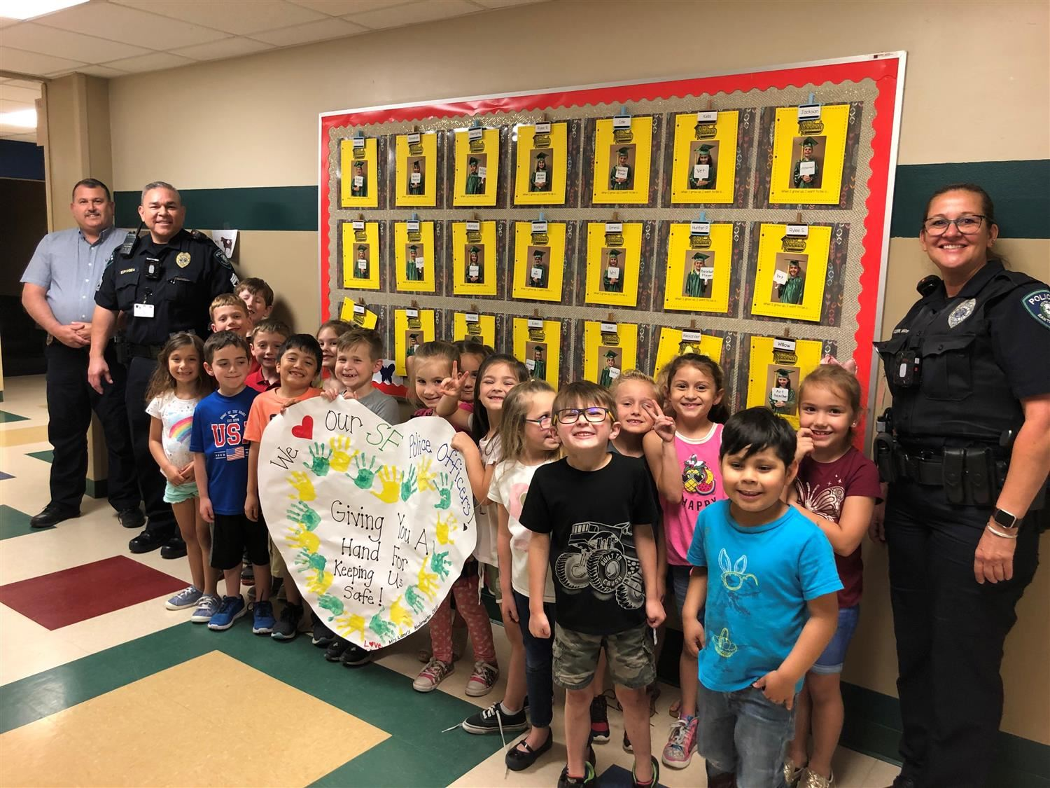 SFISD Police Officers Visit RJW