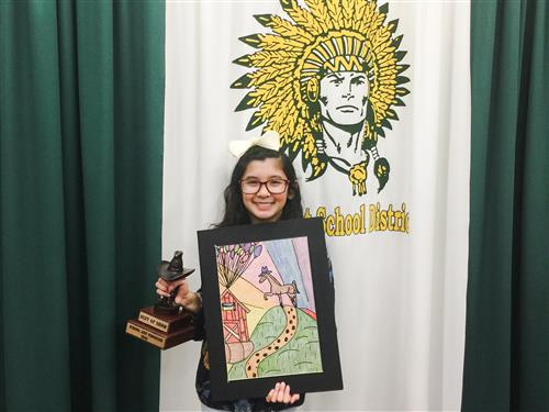 Kaylin Ayala Wins Houston Livestock Show & Rodeo Art Best of Show Award