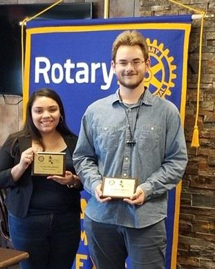 Congratulations Santa Fe High School Rotary Students of the Month of May, Guadalupe Sanchez and Everette Welch!