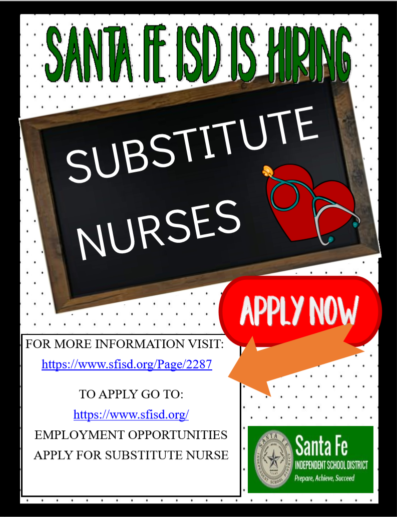 SFISD is hiring Substitute Nurses!