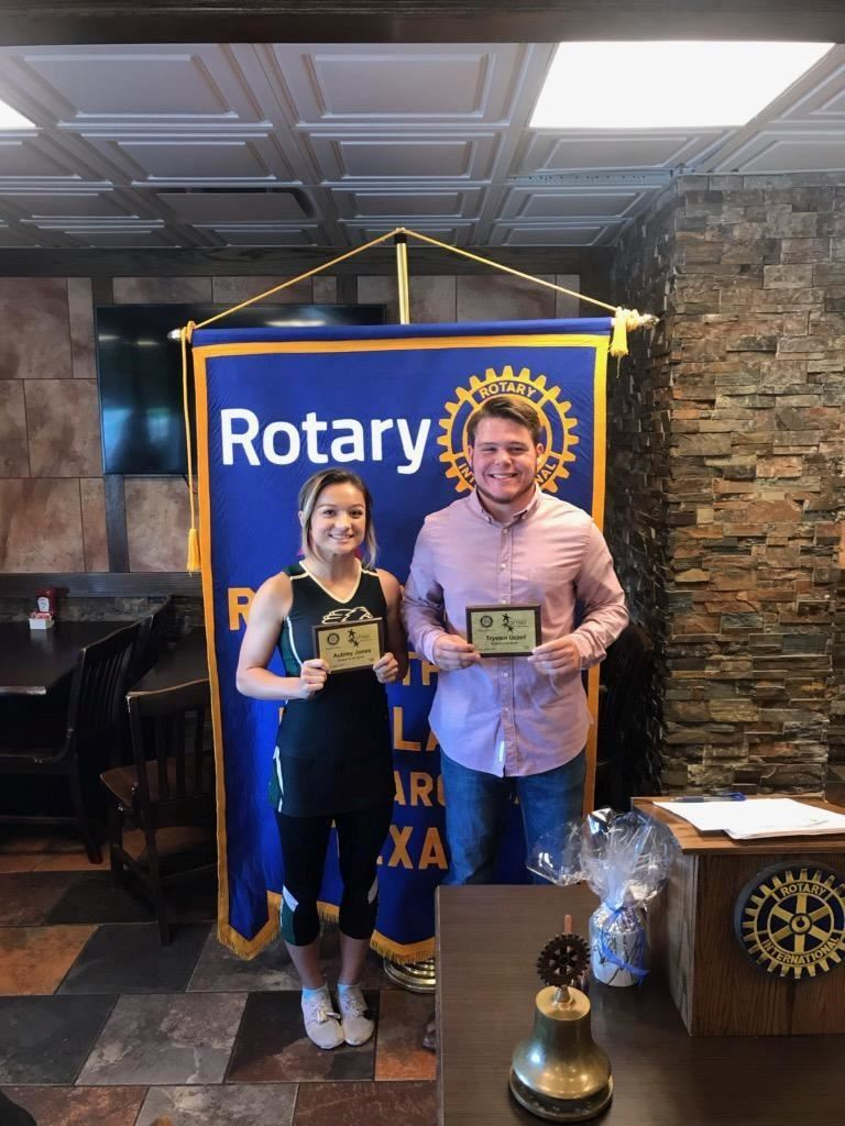 Aubrey Jones & Trystan Uzzell October 2019 Rotary Students of the Month