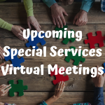 Special Services and Dyslexia informational virtual meetings to be held in January 2021