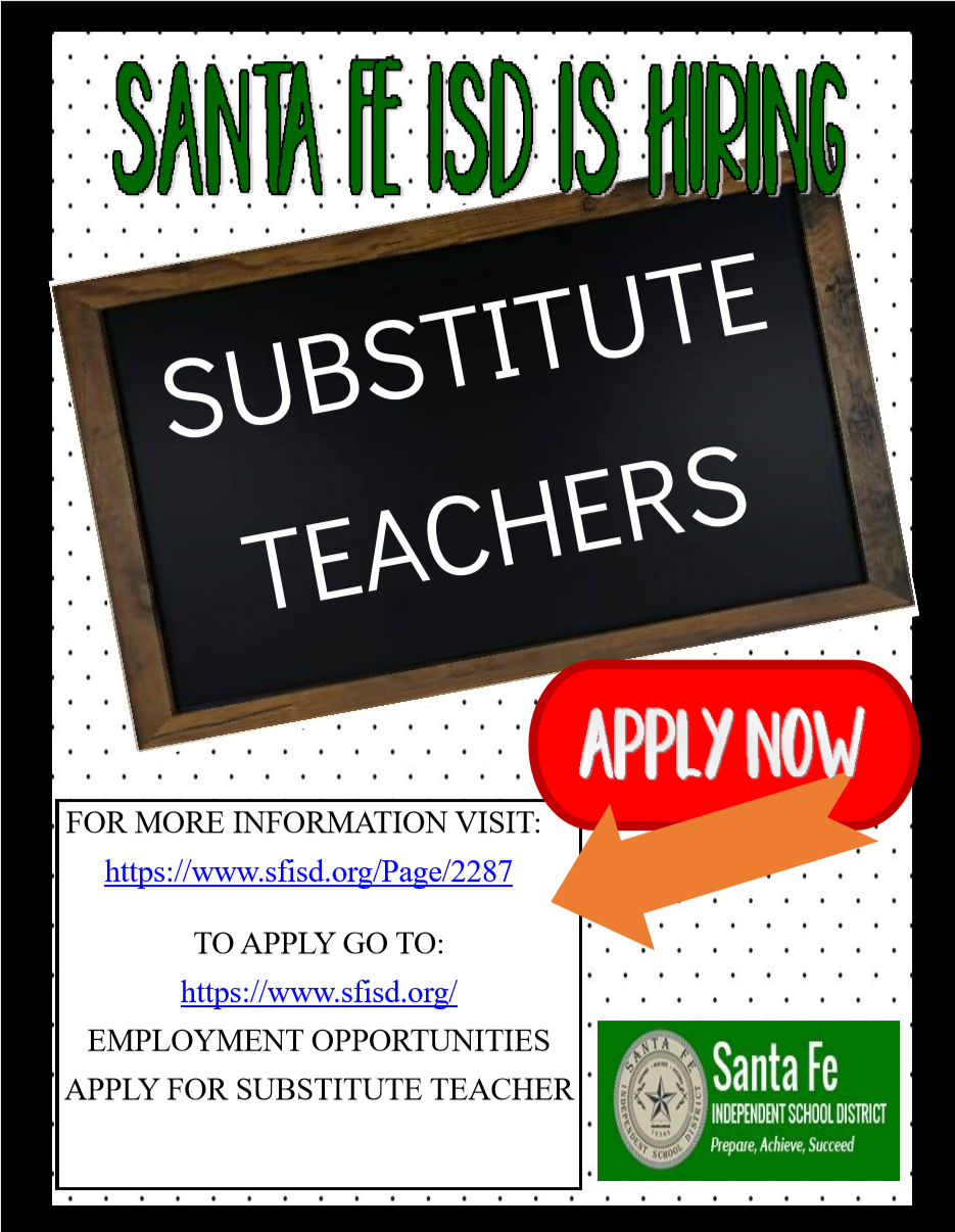 SFISD is hiring Substitute Teachers!